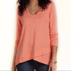 Soft Surroundings Coral Waldport Long Sleeve Tee A